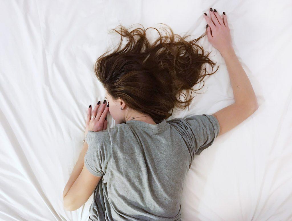 Teenager schläft