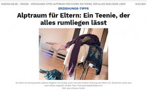 Presseartikel NWZ Online von Erziehungsexpertin Kira Liebmann Ordnung und Teenager