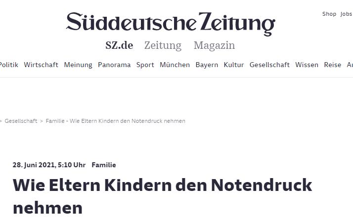 Süddeutsche Zeitung - Kira Liebmann - Tipps gegen Notendruck